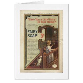 Annonce féerique de savon, carte de vœux