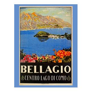 Annonce italienne de voyage de Bellagio des années Carte Postale