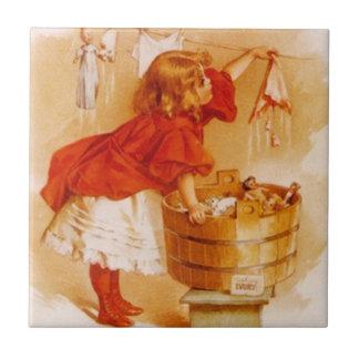 Annonce victorienne vintage de savon de poupées de carreau