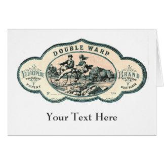 Annonce vintage : Bison chassant la vieille Carte De Vœux