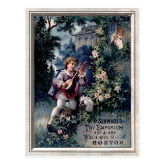 Annonce vintage de centre commercial de jouet carte postale