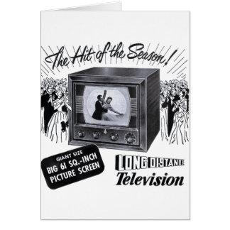 ANNONCE vintage de la télévision B&W TV de kitsch Carte De Vœux
