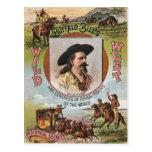 Annonce vintage de l'exposition 1893 occidental carte postale