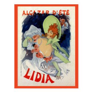 Annonce vintage de Lidia de d'été d'Alcazar Carte Postale