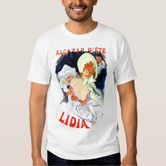Annonce vintage de Lidia de d'été d'Alcazar T-shirts