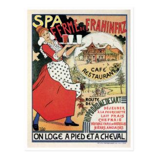 Annonce vintage de restaurant de la Belgique Café Carte Postale