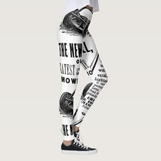 Annonce vintage de tondeuse à gazon leggings