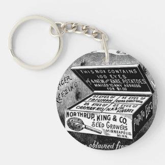 Annonce vintage étrange de pomme de terre porte-clés