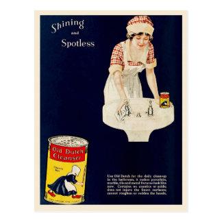 Annonce vintage pour le vieux détergent carte postale