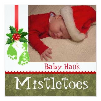 Annonces de bébé de photo de Noël Faire-parts