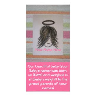 Annonces de naissance de bébé de photo cartes avec photo