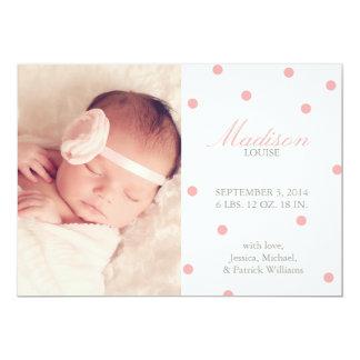 Annonces de naissance de confettis carton d'invitation  12,7 cm x 17,78 cm
