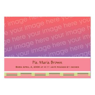 Annonces de naissance de photo de bébé carte de visite grand format