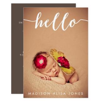 Annonces de naissance de photo de bébé ou de fille carton d'invitation  12,7 cm x 17,78 cm