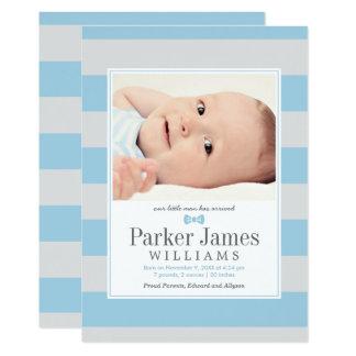 Annonces de naissance de photo | notre petit homme carton d'invitation  12,7 cm x 17,78 cm