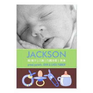 Annonces de naissance pour un bébé carton d'invitation  12,7 cm x 17,78 cm