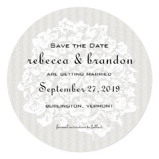 Annonces élégantes rondes de mariage carton d'invitation  13,33 cm
