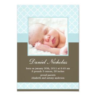 Annonces en bon état de bébé de photo de motif de carton d'invitation  12,7 cm x 17,78 cm