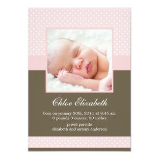 Annonces faites sur commande de bébé de photo de carton d'invitation  12,7 cm x 17,78 cm
