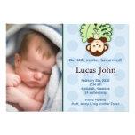 Annonces faites sur commande de naissance de photo cartons d'invitation personnalisés