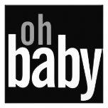 Annonces modernes de naissance de carte photo bristols personnalisés