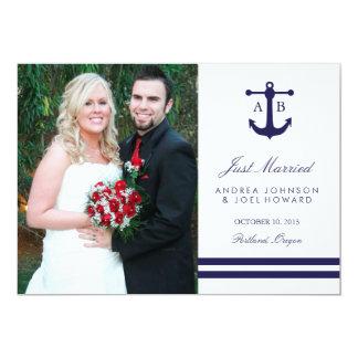 Annonces nautiques de mariage de marine carton d'invitation  12,7 cm x 17,78 cm