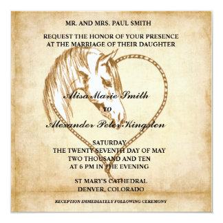 Annonces occidentales d'invitations de mariage de carton d'invitation  13,33 cm