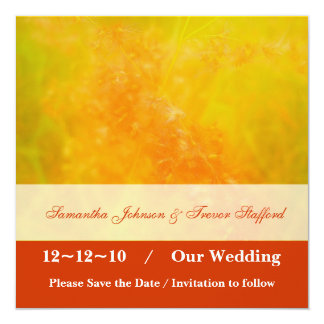 Annonces oranges brûlées de mariage carton d'invitation  13,33 cm
