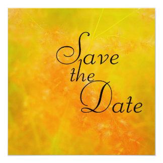 Annonces oranges de mariage de fleur sauvage carton d'invitation  13,33 cm