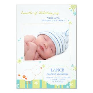 Annonces plates de naissance de photo de nouveau carton d'invitation  12,7 cm x 17,78 cm