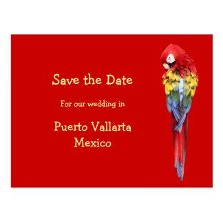 Annonces rouges exotiques de mariage de destinatio carte postale