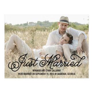 Annonces simplement douces de mariage - noir carte postale