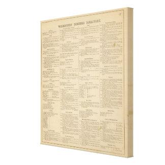Annuaire commercial de Wilmington Delaware Toiles