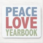 Annuaire d'amour de paix tapis de souris