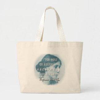 Anonyme était un bleu de citation de la Virginie Grand Tote Bag