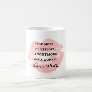 Anonyme était une citation de la Virginie Woolf de Mug