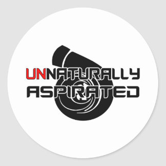 Anormalement aspiré sticker rond