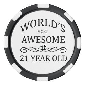 Ans les plus impressionnants du monde 21 rouleau de jetons de poker