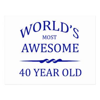 Ans les plus impressionnants du monde 40 cartes postales