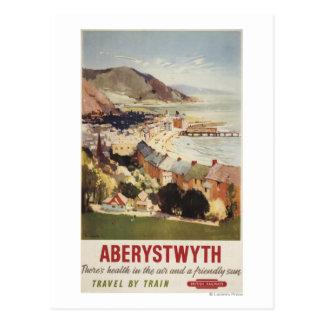 Antenne d'affiche britannique de chemins de fer de cartes postales