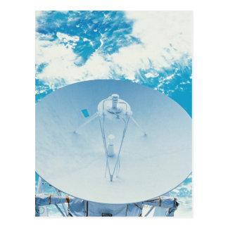 Antenne dans l'espace carte postale