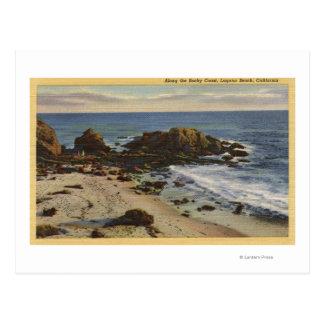 Antenne de la côte rocheuse carte postale
