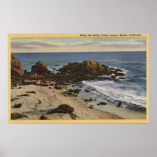 Antenne de la côte rocheuse poster