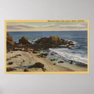 Antenne de la côte rocheuse posters