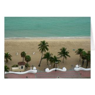 Antenne de plage de Fort Lauderdale Carte De Vœux