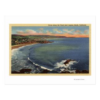 Antenne des criques le long de la côte carte postale