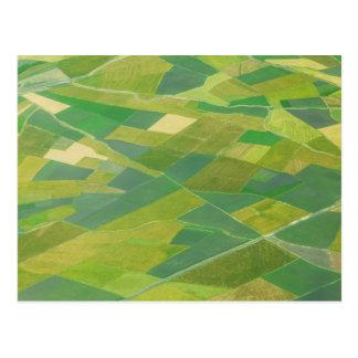 Antenne des terres cultivables en Ethiopie Carte Postale