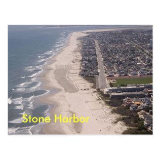 Antenne en pierre de plage de port carte postale