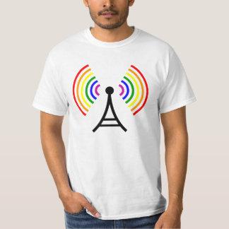 Antenne gaie de signal d'arc-en-ciel de WiFi T-shirt