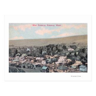 Antenne occidentale de ville carte postale